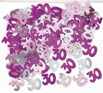 30. Geburtstag Deko Konfetti Pink
