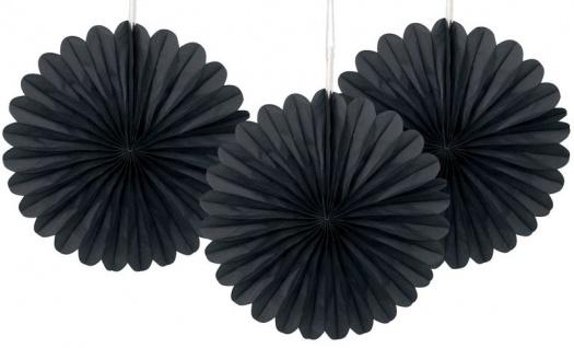 3 kleine Dekofächer in Schwarz