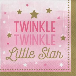 48 Teile Blinke Kleiner Stern Rosa Party Deko Set 16 Personen für die Baby Shower oder Kindergeburtstag - Vorschau 4