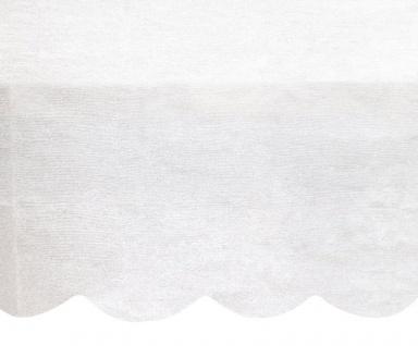 Papier Tischdecke mit gewelltem Rand in Weiß 2, 74m