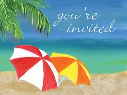 8 Einladungen Hawaii Party