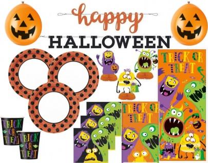 XXL 48 Teile Halloween Deko Set kleine Monster für 8 Kinder