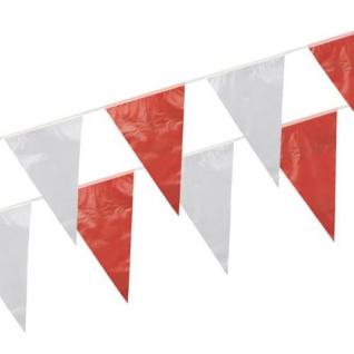 Wimpelkette Rot Weiß Rot 10 Meter