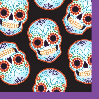 16 kleine Halloween Servietten Day of the Dead