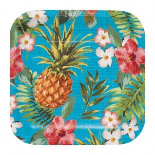 8 kleine Teller Ananas Party