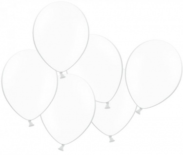 50 Luftballons Weiß