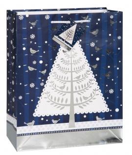 Weihnachts Geschenk Tüte Weihnachtsbaum im Schnee