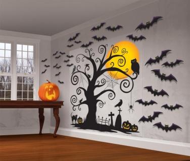 Halloween Wanddeko Set