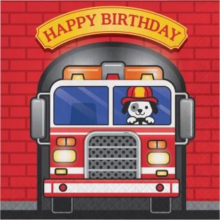 32 Teile Feuerwehr Alarm Geburtstags Party Deko Set für 8 Kinder - Vorschau 4