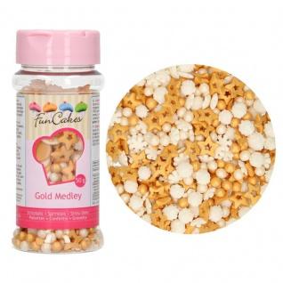 Zucker Streudekor Gold 50 Gramm