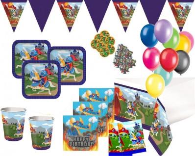 XXL 60 Teile kleines Ritter und Drachen Geburtstags Party Deko Set für 8 Personen