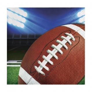 16 kleine Servietten American Football Superbowl let's Party