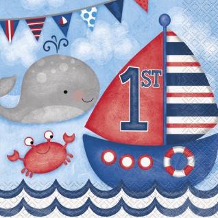 48 Teile Erster Geburtstag Maritim am Meer Party Deko Set 16 Personen - Vorschau 4