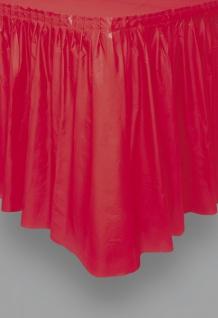 Plastik Tischrock Rot - Vorschau 1