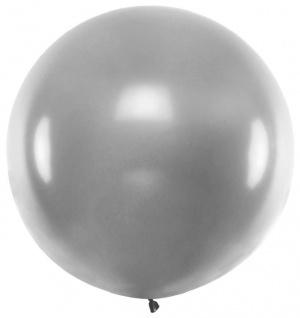 XXL Mega Luftballon in Silber Metallic 1, 8 Meter Durchmesser 1
