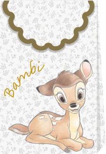 6 glänzende Papier Tüten Disney Deluxe mit Bambi und seinen Freunden