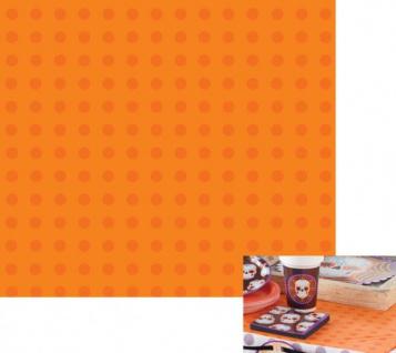 Tischdecke Orange Punkte