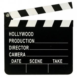 Hollywood Party Deko Filmklappe aus Holz