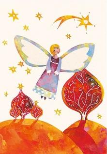 Weihnachts Postkarte Engel