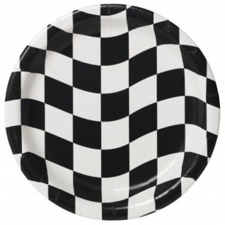8 kleine Teller Schwarz Weiß Formel 1
