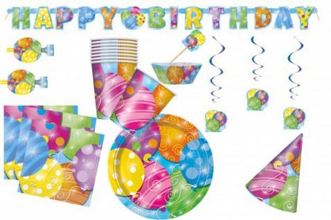 8 kleine Teller kunterbunte Ballon Party - Vorschau 2