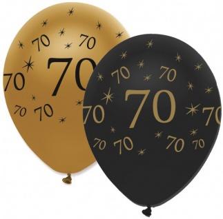 50 Luftballons 70. Geburtstag Black and Gold