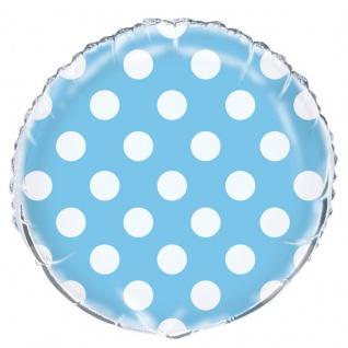 Folien Ballon Hellblau mit Punkten