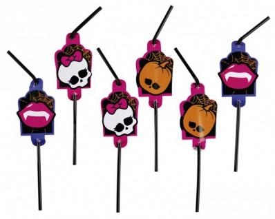 8 Monster High Halloween Trinkhalme