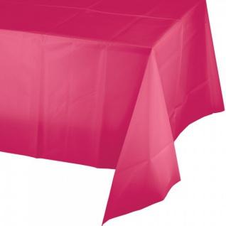 Plastik Tischdecke in Pink Magenta