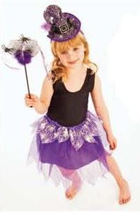 kleine lila Hexe Verkleidungs Set