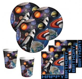 32 Teile Weltraum Party Basis Deko Set 8 Personen