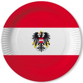 10 Papp Teller Österreich Party Deko