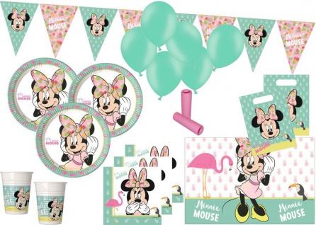 XL 61 Teile Disney Minnie Maus Tropical Party Deko Set für 8 Kinder