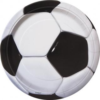 8 kleine Fußball Pappteller
