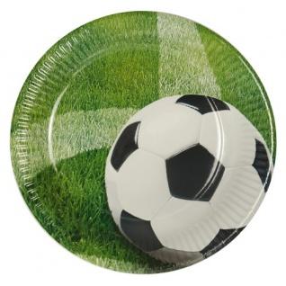 10 Fußball Party Teller Eckball