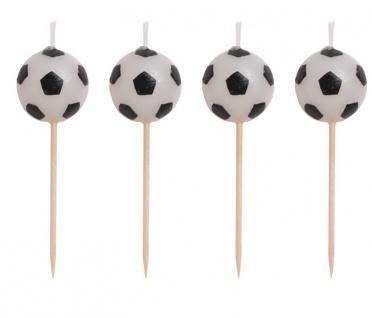 4 Mini Kerzen Picks Fußball