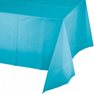 Plastik Tischdecke in Bermuda Blau