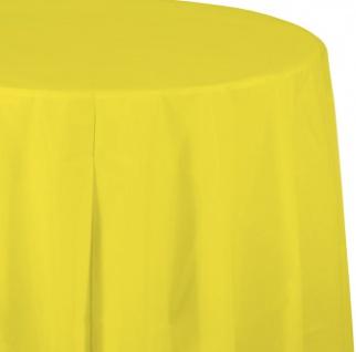 Runde Tischdecke Neon Gelb - Vorschau 1