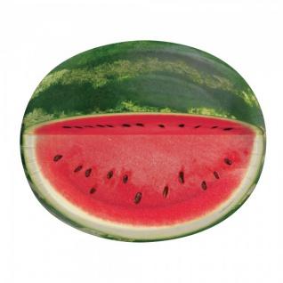 8 ovale Teller Wassermelone