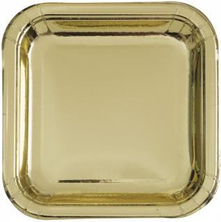 32 Teile Party Deko Set Gold Glanz für 8 Personen - Vorschau 2