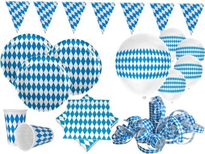 XL Bavaria Party Deko Set Oktoberfest für 10 Personen - Dekorations Set