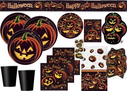 XXL Halloween Deko Set Kürbis Freunde für 8 Personen