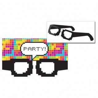 8 Einladungskarten Get Nerdy Pixel Party