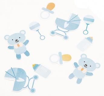 Baby Party Konfetti Mix mit Blauem Bärchen