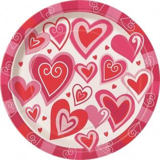 8 Teller Verspielte Herzen
