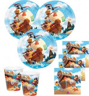 32 Teile Piraten auf der Schatzsuche Party Deko Set für 8 Kinder