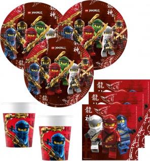 36 Teile Lego Ninjago Party Deko Set für 8 Kinder: