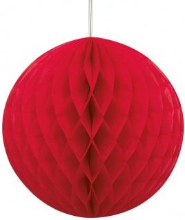 Wabenball rund in Rot 20, 5 cm