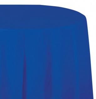 Runde Plastik Tischdecke Cobalt Blau