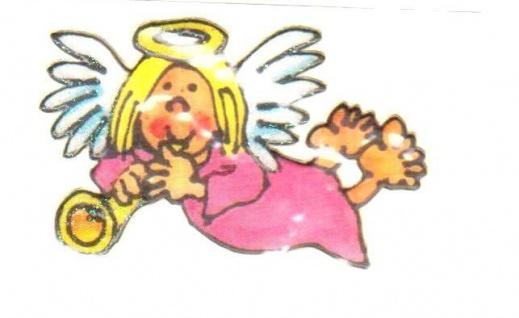 Rosa Engel Mini Sticker - ItSticks